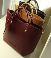 Wholesale Burgundy Cross Body Bag - Fashion Brand Women Embossed Leather Handbags Womens Satchel Bags Cross Body Shoulder Bags Ladies Large Tote Bag Bolsa Feminina