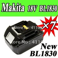 Wholesale pack New Makita V Lithium Ion Battery BL1830 for Cordless drill Makita V Battery SHIP VIA EMS order lt no track