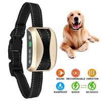Wholesale Sound Collars - 3 in 1 Electric Shock,Vibration and Sound Stimuli Anti Bark Collar for Small Medium Large Dogs Waterproog Dog Training Collar