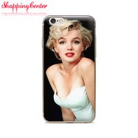 Wholesale Iphone Case Monroe - Wholesale For iphone 4 4S 5 5S 5C 6 6S 6Plus Of White Dress Marilyn Monroe Of Skin TPU Silicone Gel Protective Cover