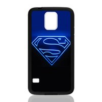 Wholesale S3 Superman - Blue Superman Logo for samsung galaxy S3 S4 S5 S6 note2 note4 note3 hard plastic cell phone back cover case222