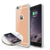 Wholesale Uk Iphone Case - 2018 QI Wireless Charger Receiver Case For iPhone 7 6 6S Plus Universal Adapter 5V 1A Charging with package