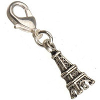 Wholesale eiffel tower bracelet accessories online - tower charms with clasps antique silver metal small paris eiffel new diy fashion jewelry accessories and fittings necklaces bracelets