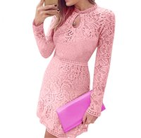 Wholesale Slim Cocktail Dresses - S5Q Women Sexy Slim Long Sleeve Floral Evening Cocktail Party Bodycon Mini Dress AAAFMR