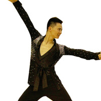 Wholesale Dance Wear Tops - New Arrival Men Boy Latin Dance Tops Man Boy'S Ballroom Dance Shirt wear DQ6030