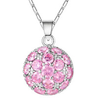 Wholesale wholesle charms resale online - Best Wholesle Price Fashion forward Fire Round Pink Topaz Amethyst Crystal Sterling Silver USA Israel Engagement Pendants Weddings