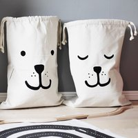 Wholesale Canvas Decorating Bags - 2016 Baby bedroom Storage Canvas Bags Kids Room cute Decorate Outdoor Lovely Cartoon bear batman Laundry Bags