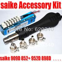 Wholesale Hot Air 852d - Free Shipping Hot Air Desoldering Gun + Heater + Nozzles for SAIKE machine 852D+ 898D order<$18no track