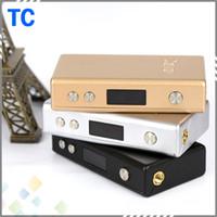 Wholesale Gt Free - Newest Cloupor GT TC 80W Box Mod Cloupor GT Temperature Control mods sliver black golden 3 Colors Cloupor 80W Mod DHL Free