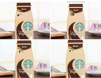 3D Mocha Frappuccino Starbucks Coffee Cup Unique Style Cartoon weiche Silikon-Gummi-Kasten für Iphone 6 6S I6 6Plus 5 5S Fashion Hautabdeckung