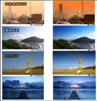 Wholesale Red Filter 52mm - 62mm graduated gradual grey ND4+blue+orange+Red Len filter for 62mm Lens DSLR Camera 18-135mm 18-250mm lens filter alum