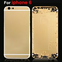 Wholesale Iphone Gold Plated Housing - For iPhone 6 Limited Edition 24Kt 24K Gold Plating Luxury Back Housing Cover Black White Lines For iphone6 Battery Door + Small Parts