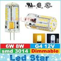 Wholesale G4 8w - 6W 8W G4 Led Lights Bulbs 12V Dimmable Led Spot Lights Corn Lamp smd 3014 High Lumens DHL Free Shipping