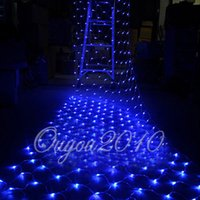 Wholesale Twinkling Colored Lights Net - New 1.5Mx1.5M 100 LED Outdoor Net Mesh Lights Twinkle Lighting Christmas Xmas Fairy String Holiday Wedding Party Decoration 220V