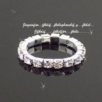 Wholesale Elastic Crystal Toe Rings - New Rhinestone Colorful Fashion Finger Rings Silver Crystal Toe Ring Bracelets Elastic Body Wedding Jewellery ZJ-T20