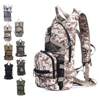 Wholesale Acu Hydration - ACU Waterproof Hydration 3P Army Military Tactical Backpack Multifunction Bicycle Bag Outdoor Sport Running Camping Rucksack