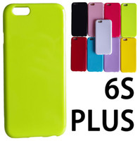 Wholesale S4 Jelly - Glossy Jelly Candy Color Soft TPU Gel Rubber Silicone Case Cover For iPhone 5 6 6S Samsung Galaxy Note 4 Note5 S4 S5 Mini S6 Edge Plus