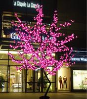 açık çiçek hafif ağaç toptan satış-Su geçirmez açık peyzaj bahçe şeftali ağacı lambası simülasyon 1.5 metre 480 ışıkları LED kiraz çiçeği ağacı ışıkları bahçe dekorasyon