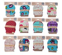 Wholesale Finger Gloves For Babies - Wholesale-2015 summer style Fashion luvas para bebe 3 Pairs lot Newborn Baby Gloves Cotton 0-6 Months Mittens for Baby RJ-0078