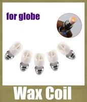 Wholesale Wax Dome Core - M6 Coil replacement Coil head for Bulb Glass Globe Atomizer Glass Tank Replacement Core Head for Dry Herb Wax glass dome Ceramic coil FJ097