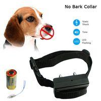Wholesale Dog Training Usa - Anti Bark No Barking Tone Shock Control Training Collar for Small Medium Dog USA (No Battery)