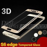 Wholesale Note 3d Covers - For S8 S8 Plus S7 Edge S7 S6 Edge S6 Edge Plus Note Edge Note 7 Full Cover 3D Curved Tempered Glass Screen Protector