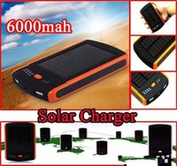 Universal 6000 mAh Dual USB Port Solar Ladegerät 6000 mah Solar Power Bank STD-S6000 Batterie Solar Panel Für Mobile Handy Laptop MP4