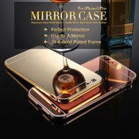 Cheap For Samsung cover iphone Best Plastic Gold thin mirror