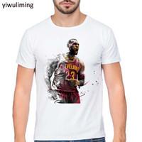 Wholesale Lebron T Shirts - LeBron James Print T shirt 2017 Summer Brand Funny Cartoon design Men t-shirt Man Casual Short Sleeve T shirts Plus Size S-XXL