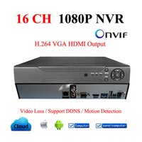 Wholesale 16CH NVR Onvif H HDMI High Definition P Full HD CH Network Video Recorder For IP Camera system WIFI Cameras DDNS