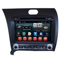 Wholesale Dvd Car For Kia Forte - Double Din Auto Car DVD GPS Navigation for Kia K3 Cerato Forte 2013 with Android Quad Core System Support OBD Digital TV Mirror-link Radio