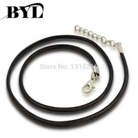 Wholesale 10pcs packs Fashion Black Velvet Lobster Clasp Necklace Cord Jewelry Findings