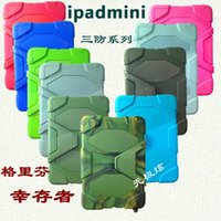 Wholesale Ipad Mini White Covers - Ipad Mini Mini 2 Waterproof Shock Proof Case Defender Back Cases Covers Protecting Hybrid Silicon PC Shell No Retail Package Free DHL