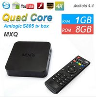 MXQ TV BOX Amlogic S805 Mini PC Quad Core Android 4.4 Kitkat 4K HDMI H.265 1GB 8GB WIFI Airplay Miracast 3D más barato que MXQ PRO MXV