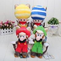 "Wholesale Super Mario Toad Plush - Free Shipping Super Mario 8"" Plush Sanei Doll Yellow Squirrel Toad   Kinopio Wholesale And Retail"