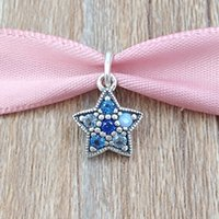Wholesale bright charms - Authentic 925 Sterling Silver Beads Bright Star Pendant Charms Fits European Pandora Style Jewelry Bracelets & Necklace 396376NSBMX