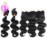 Wholesale braid in' bundles for sale - Doheroine Bundles Body Wave Human Hair Bundles Braid In Human Hair Bundles With Lace Closure Brazilian Virgin Hair Extension