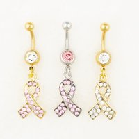 Wholesale gold plated mixed style rings resale online - D0552 colors body jewelry Nice style Navel Belly ring mix colors stone drop shipping factory price
