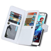 Wholesale Galaxy Note Detachable Case - 9 Credit Card Slots Photo Frame Flip Wallet Leather Case W  Magnetic Detachable Cover for Samsung Galaxy Note 5 S6 Edge Plus Note5 SGN5C15