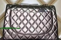 Discount leather handbag embossed - High Quality Brand design Maxi Jumbo Classial XXL Plaid Chain Bag Lambskin Double Flaps Bag Caviar Leather Women Shoulder Bag Handbag