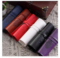 Wholesale Twilight Pens Pencils - Make up bag PU Pen Pencil Case Twilight New Moon Vintage Roll Cosmetic Bag Luxury Women Brush Organizer handbags Free Shipping Dhgate