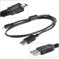Wholesale Digital Camera Coolpix - Replacement USB Cable UC-E6 for Nikon COOLPIX S4000 S4200 S5100 S70 S80 S800C S8000 D3200 D5000 L20 L22 L100 L120 Digital Camera 1000pcs