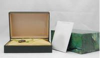 relojes de lujo de madera al por mayor-Proveedor de fábrica Verde de lujo con caja original Caja de reloj de madera Papeles Tarjeta Carteras Cajas Caja de reloj de pulsera