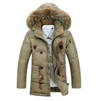 Wholesale Long Coat Design Men - New Arrival Winter Jacket Men Long Outdoors Overcoats Coats Casual Design Warm Hooded New Brand Men's Parkas Outwear Man ZHZ1932