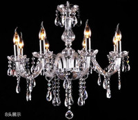 Wholesale free office package - free ship Wooden packaging Noble Luxurious Export K9 Clear Crystal Chandelier 4 6 8 10 12 15 18 Arms Optional Lustres De Cristal droplight