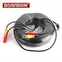 Wholesale Coaxial Power Plugs - 4pcs lot BNC 50M Power video Plug and Play coaxial Cable for CCTV camera