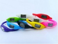 Wholesale Cheap Water Resistant Sport Watches - 50pcs Cheap Led Watch Women's men anion watches girl boy sport Anion Negative Ion Silicone LED Bracelet HOT, free shipping