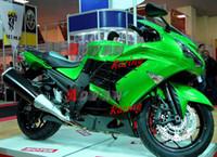 Wholesale Zx14r Custom Paint - Painted all Green custom injection molding fairing Kawasaki ZX-14R Ninja 2012-2013 1 3