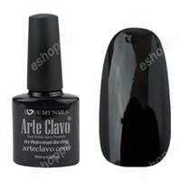 Wholesale Pool Polishes - Wholesale-Arte Clavo 10ml Hot Slae Color 40518 Black Pool UV Gel Nail Art Soak Off Nail Gel Polish