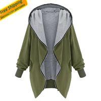 ingrosso giacca di trincea dell'esercito-All'ingrosso-Donna Giacche e cappotti 2015 Army Green Jacket Women Capispalla Donna Bomber Jacket Trench Coat Duster Coat